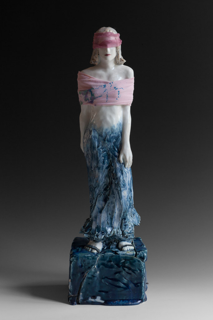 """Walking My Rose Colored Way""<br/>Glazed Stoneware, SOLD"