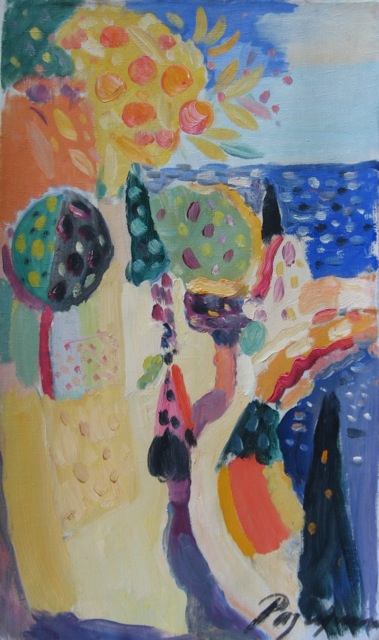 oil on canvas 60 x 35 cm.