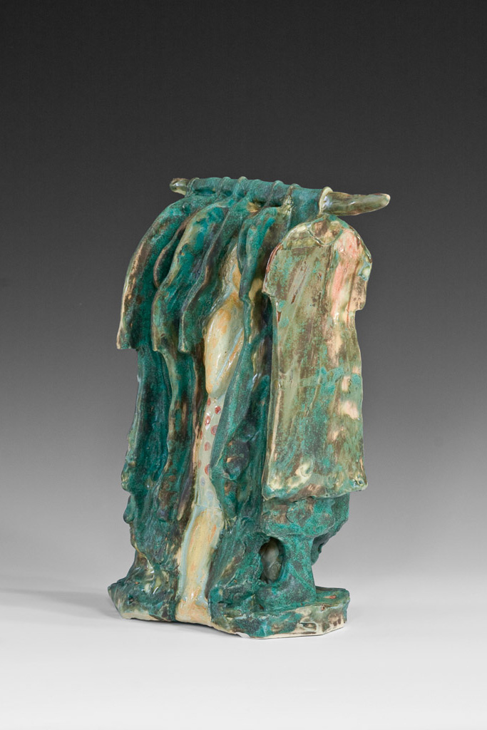 """Hiding""<br/>Stoneware, 12"" X 9"", $900 SOLD"