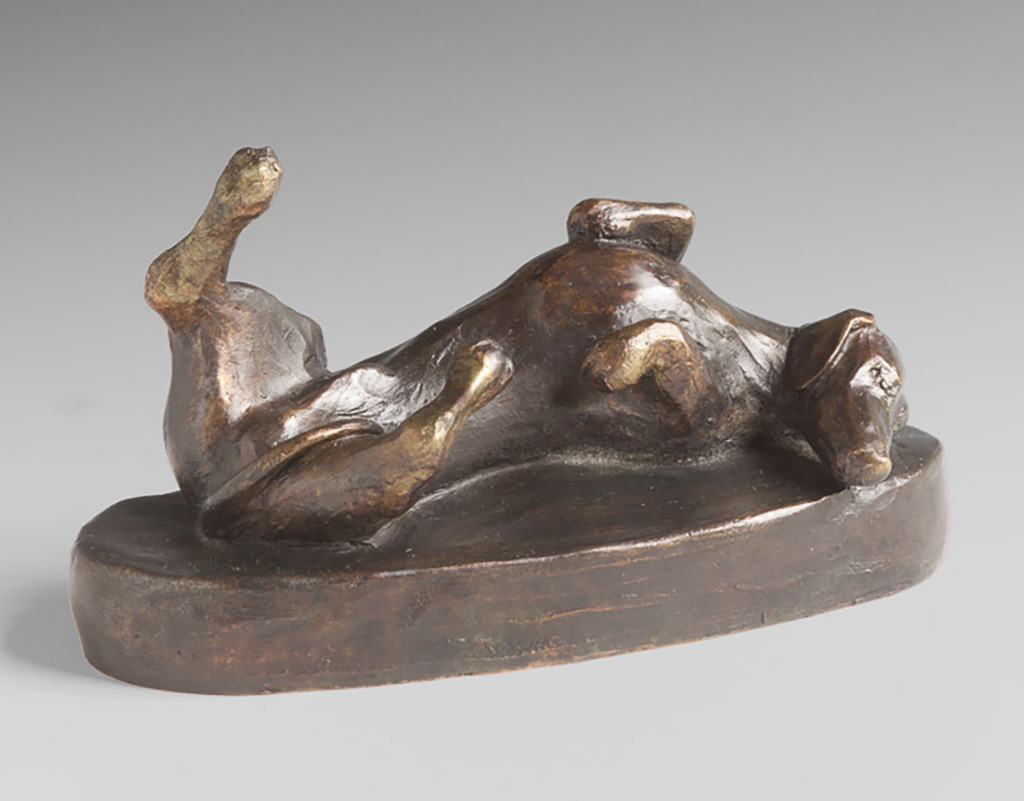 """Happy Dog""<br/>Bronze, 9"" X 4"", $2,000"