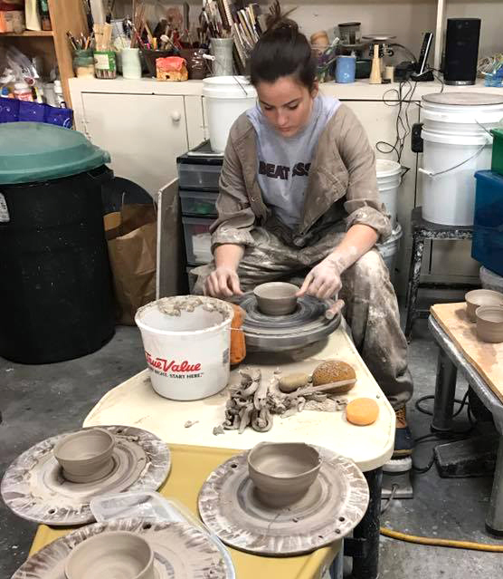 ceramics class at YAS2