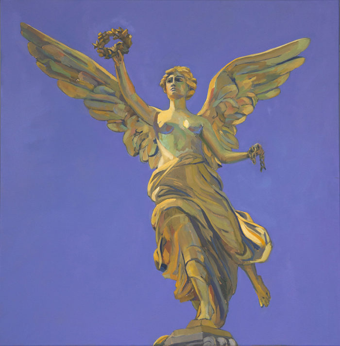 Mary Michaela Murray, Angel of Independence, 2017, oil on canvas, 36 x 36 inches