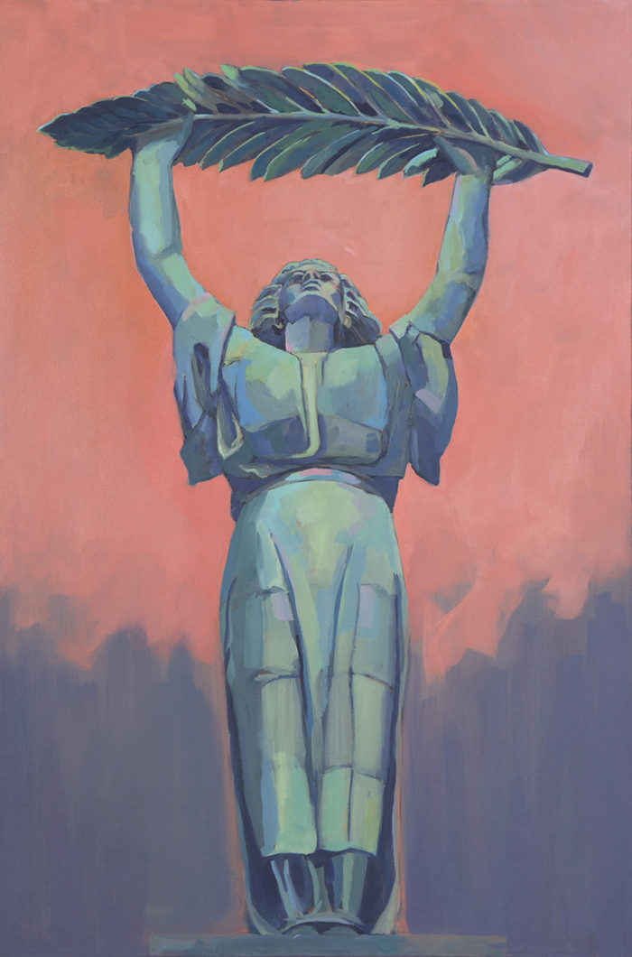 Mary Michaela Murray, Liberation, oil on canvas, 2017, 36 x 22 inches