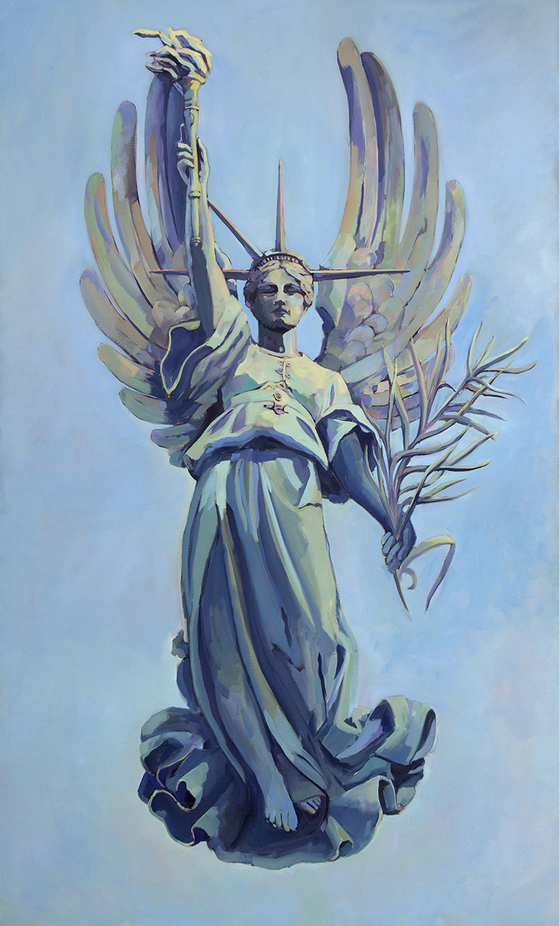 Mary Michaela Murray, The Lightness of Liberty, 2017, oil on canvas, 60 x 36 inches